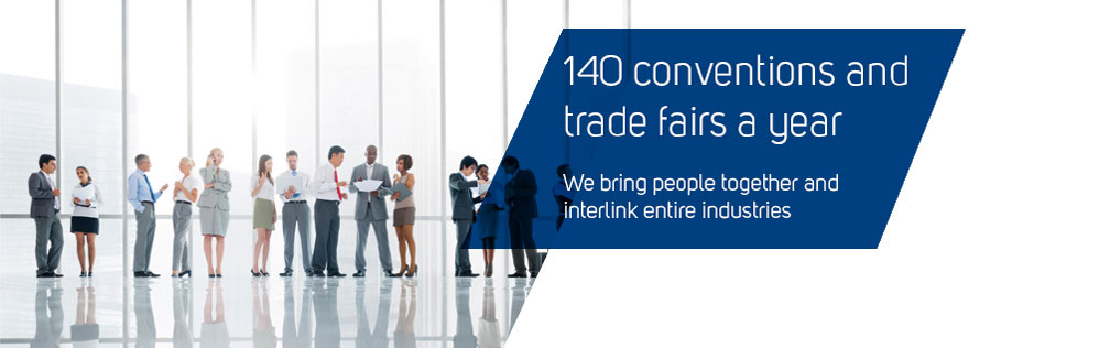 140 conventions and trade fairs a year